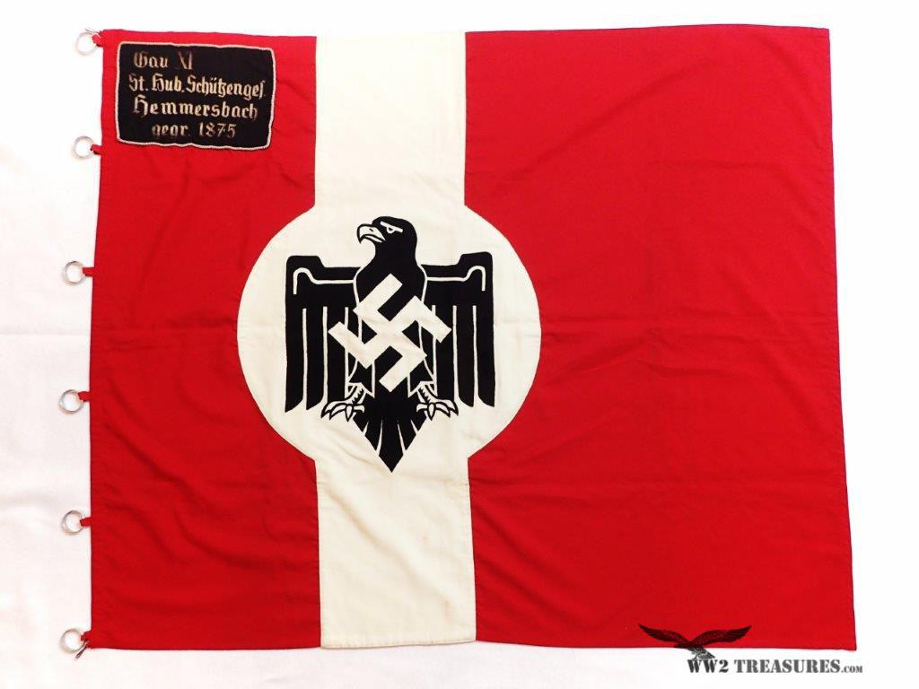 German NSRL Flag - Gau XI St  Hub  Schützenges #145 - World