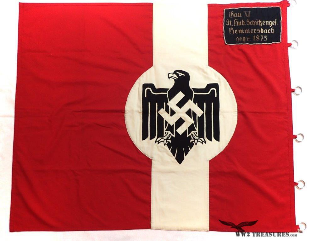 German NSRL Flag - Gau XI St  Hub  Schützenges #145 - World War 2